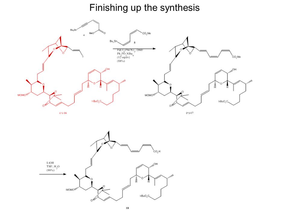 Finishing up the synthesis