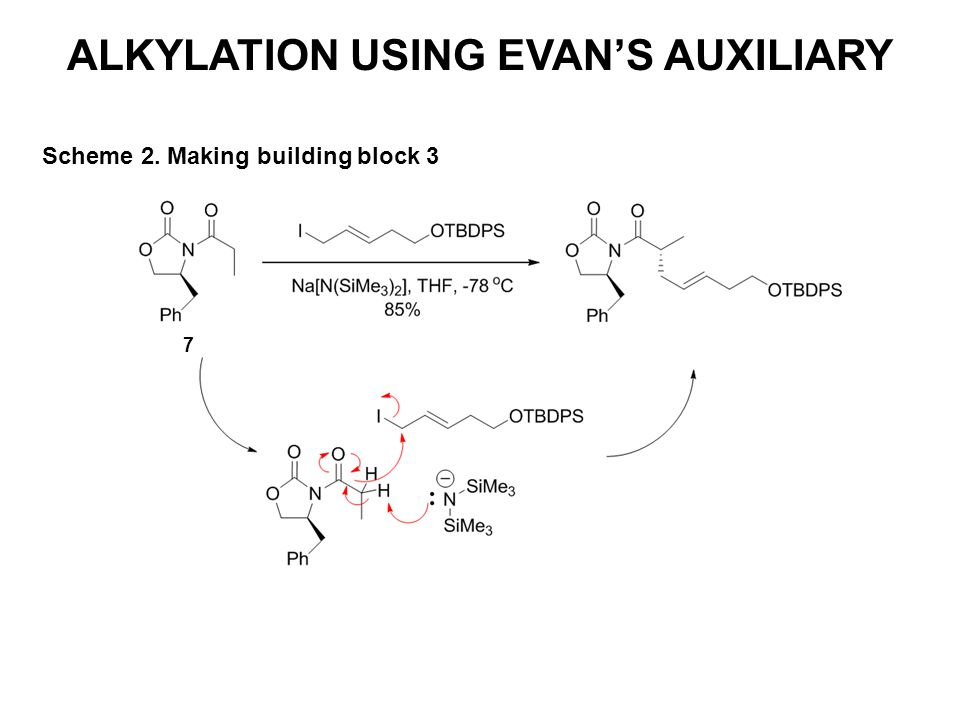 ALKYLATION USING EVAN'S AUXILIARY