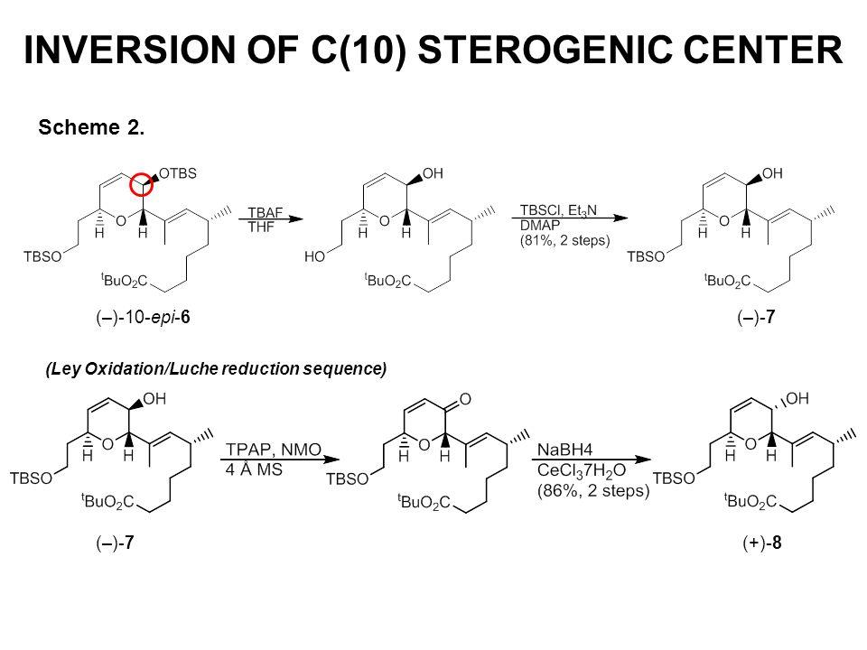 INVERSION OF C(10) STEROGENIC CENTER