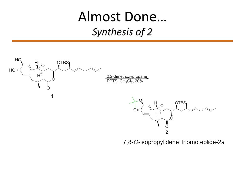 Almost Done… Synthesis of 2