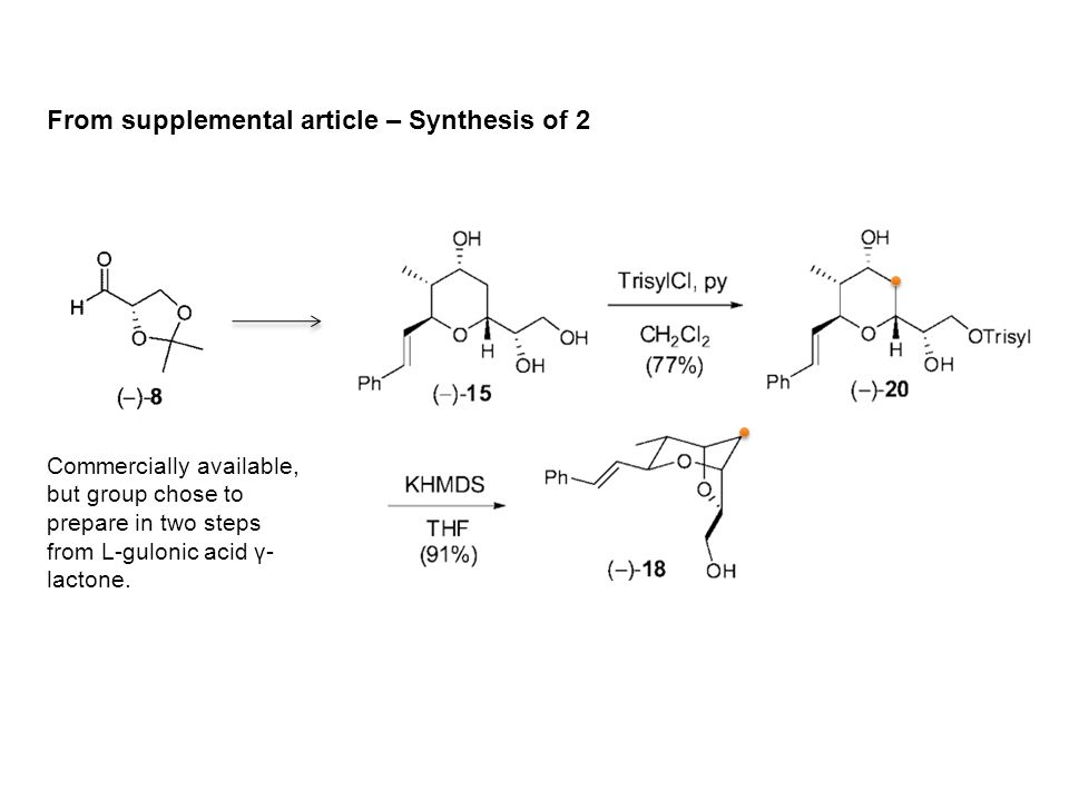 From supplemental article – Synthesis of 2