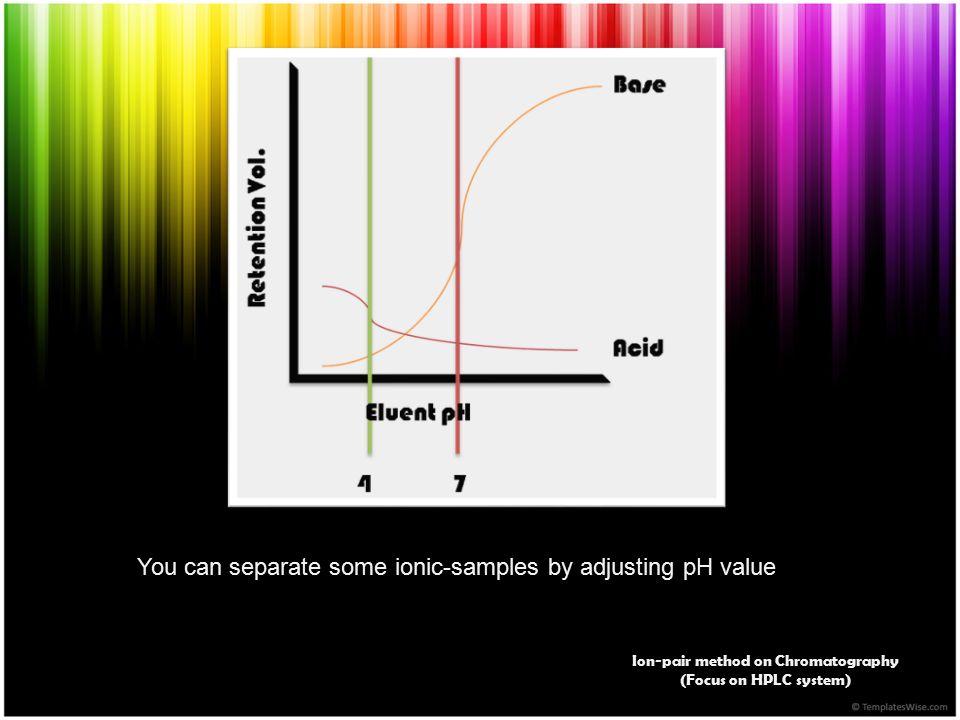 Ion-pair method on Chromatography
