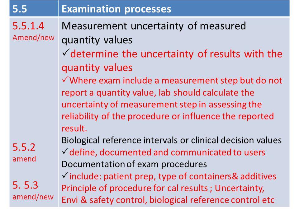 Examination processes 5.5.1.4