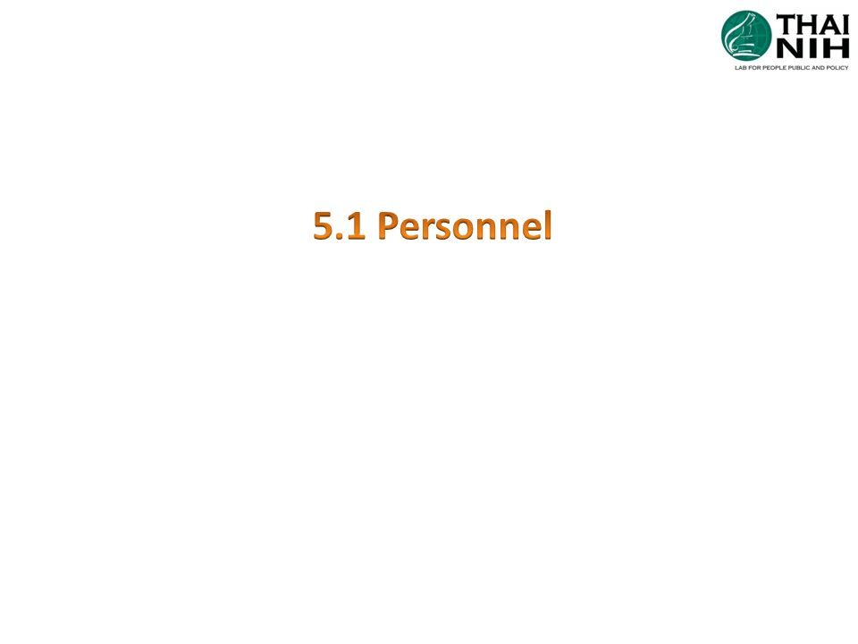 5.1 Personnel