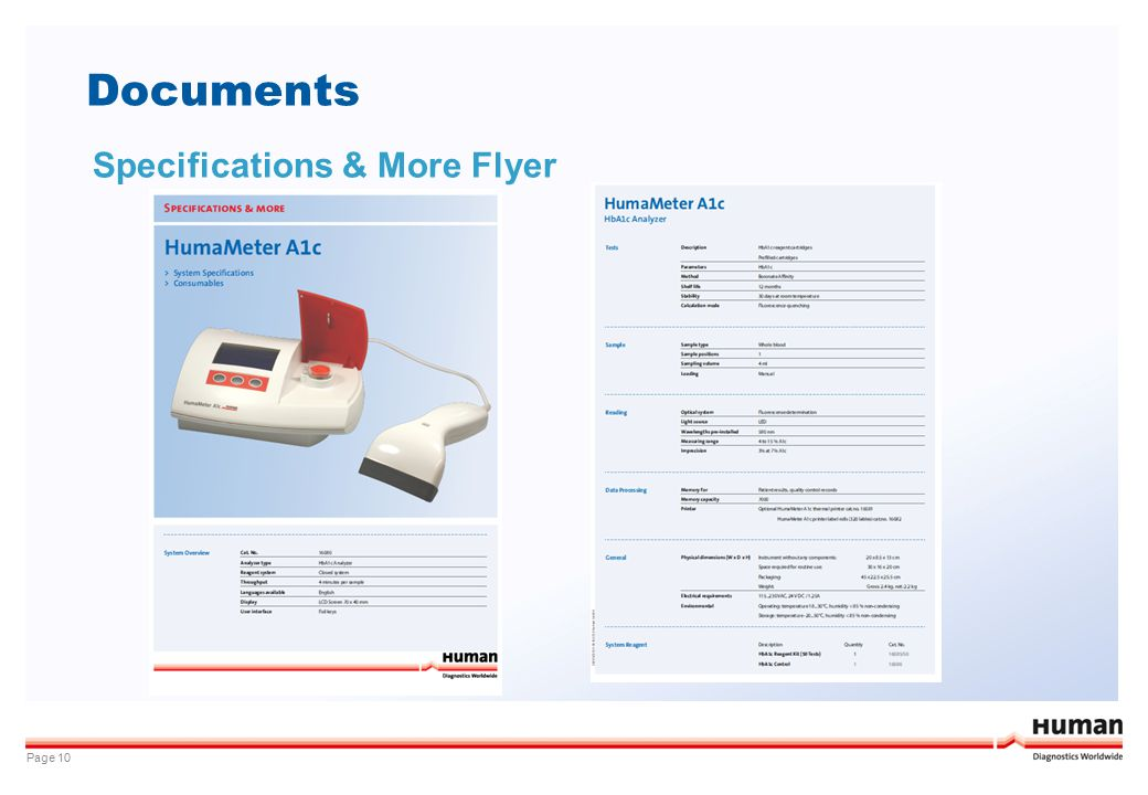 Documents Specifications & More Flyer