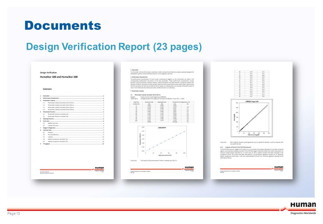 Documents Design Verification Report (23 pages)