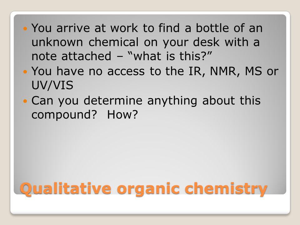 Qualitative organic chemistry