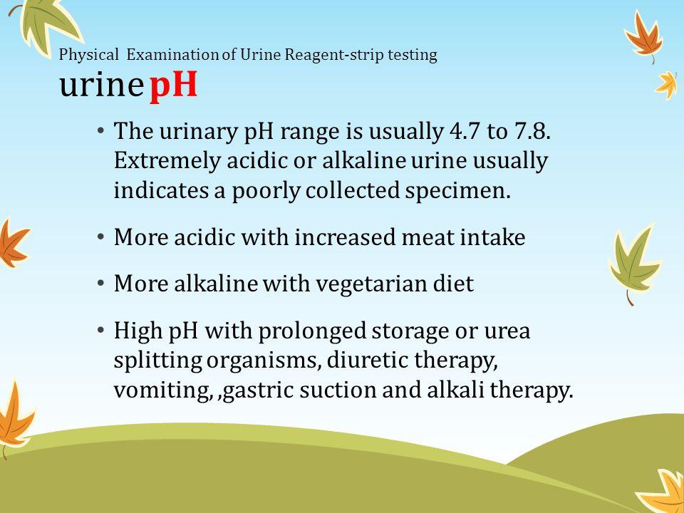 Physical Examination of Urine Reagent-strip testing urine pH