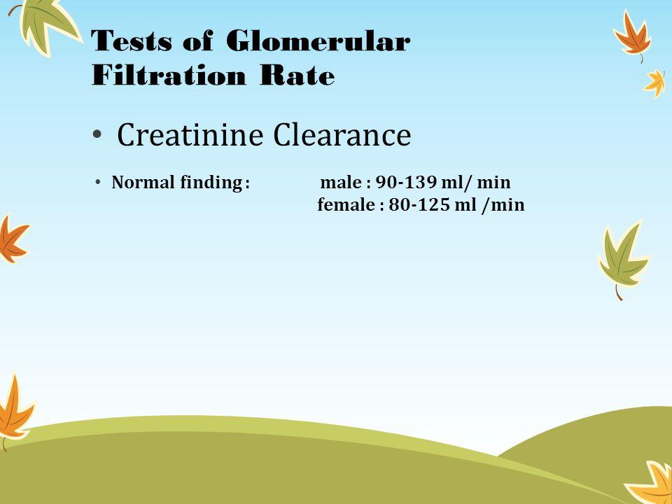 Tests of Glomerular Filtration Rate