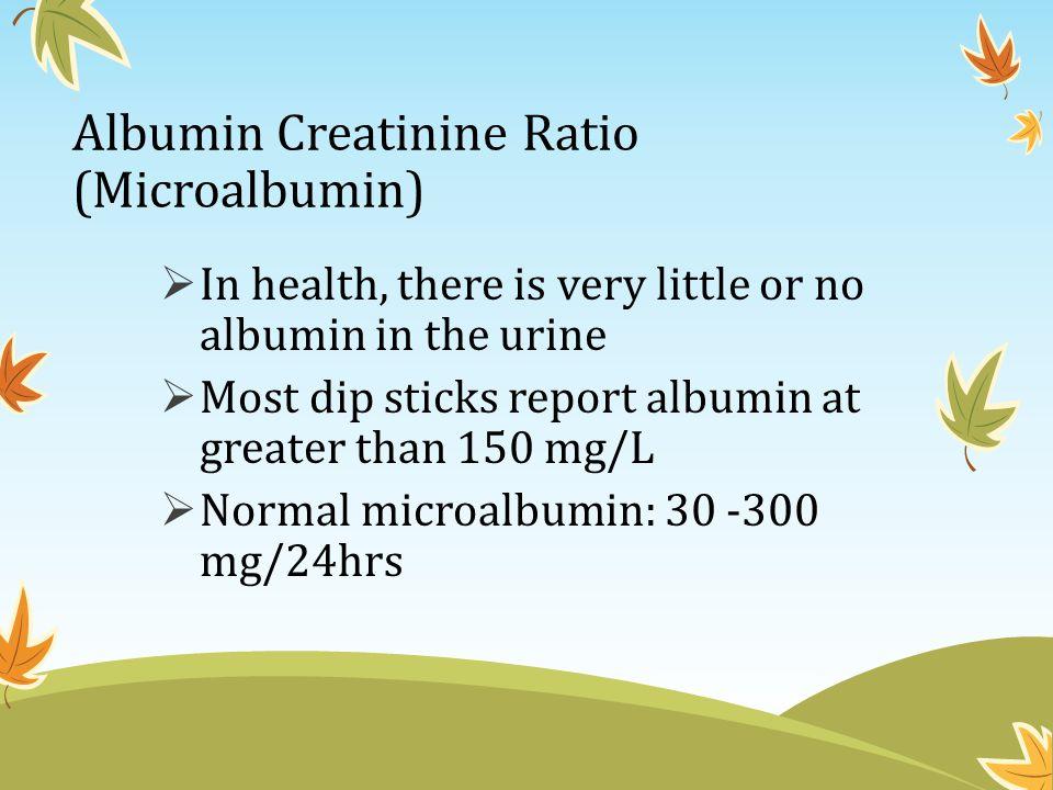 Albumin Creatinine Ratio (Microalbumin)