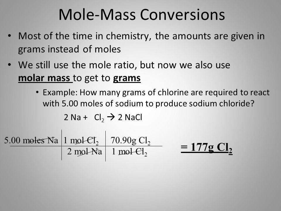 Mole-Mass Conversions