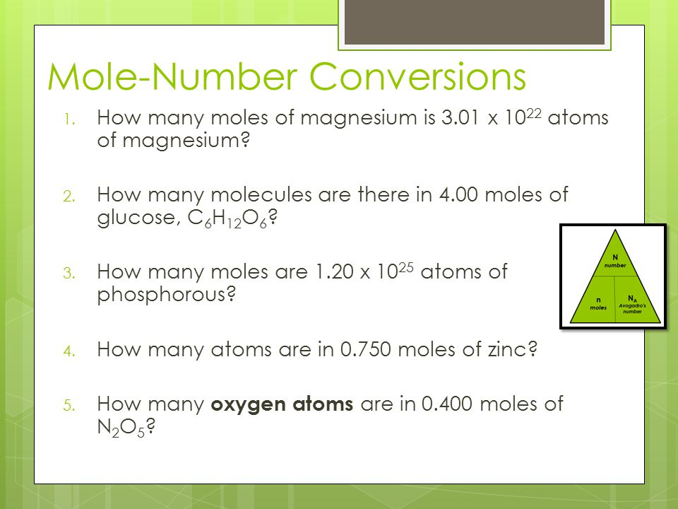 Mole-Number Conversions