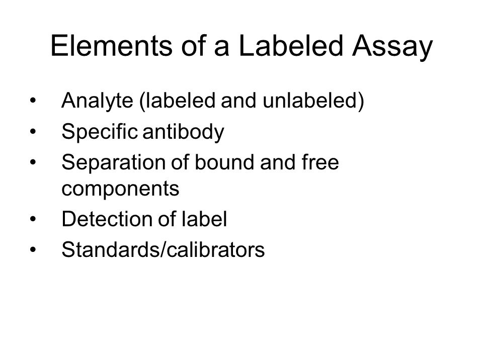 Elements of a Labeled Assay