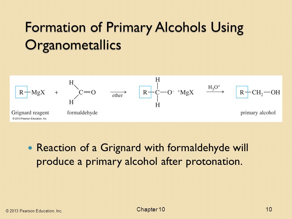 Formation of Primary Alcohols Using Organometallics