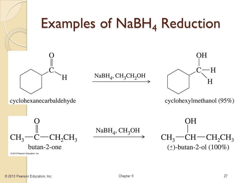 Examples of NaBH4 Reduction