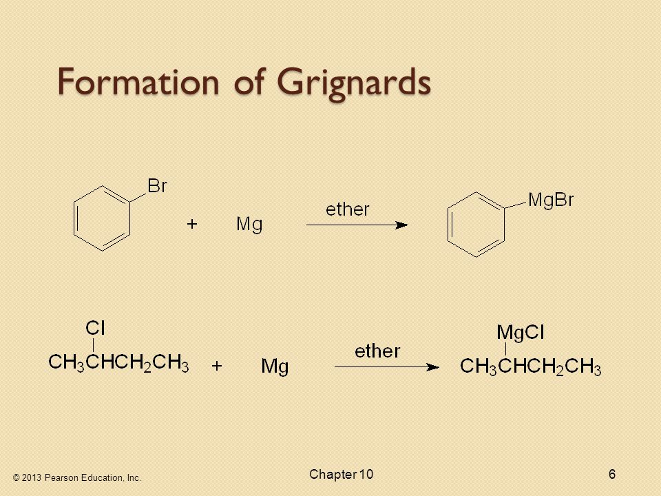 Formation of Grignards