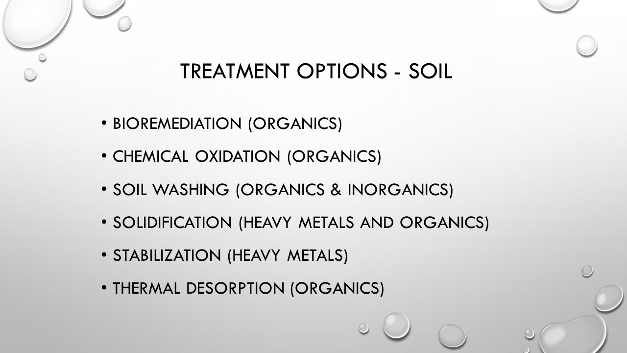 Treatment Options - Soil