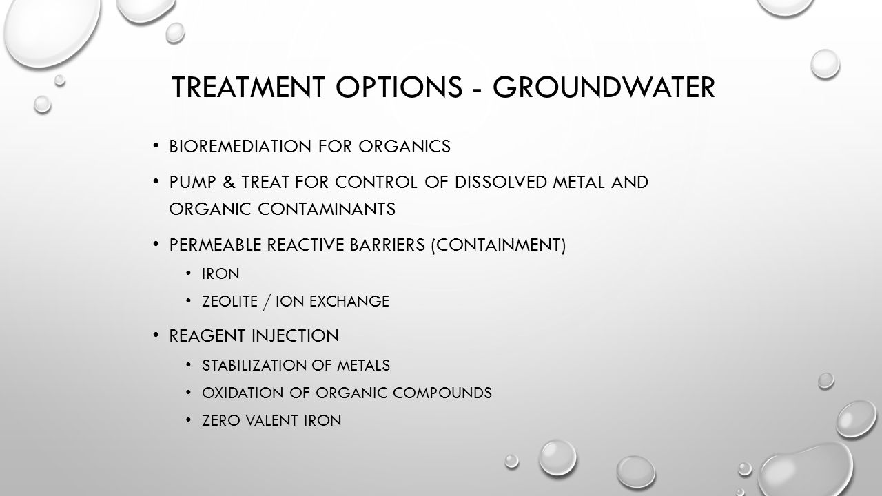 Treatment Options - Groundwater