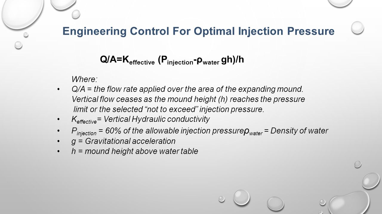 Engineering Control For Optimal Injection Pressure
