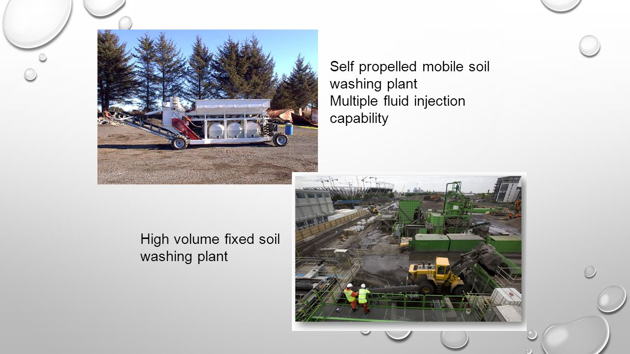 Self propelled mobile soil washing plant