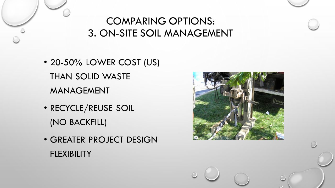 Comparing Options: 3. On-Site Soil Management