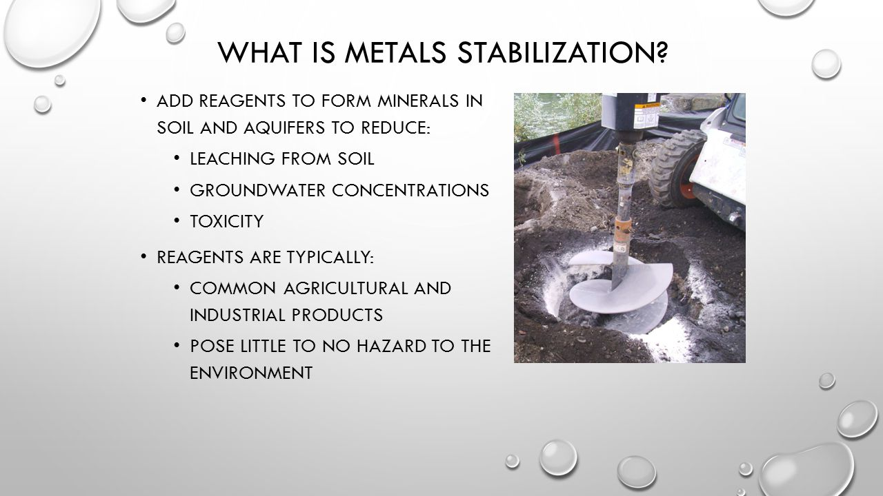 What is metals stabilization
