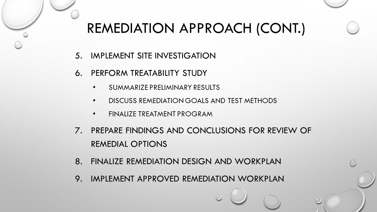 Remediation Approach (cont.)