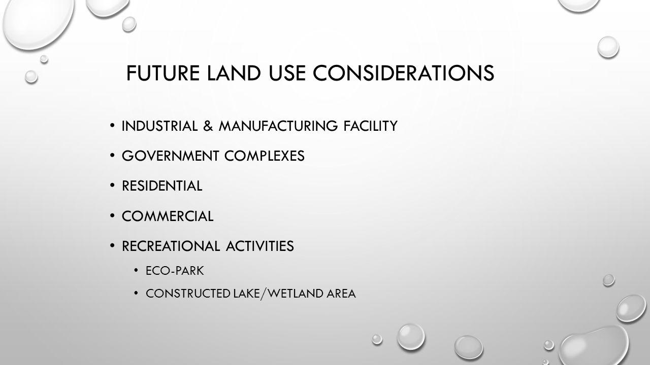 Future Land Use considerations