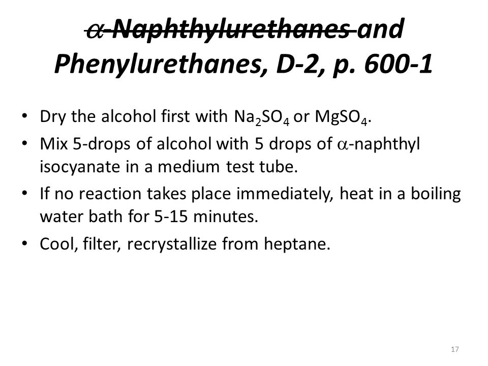 -Naphthylurethanes and Phenylurethanes, D-2, p. 600-1