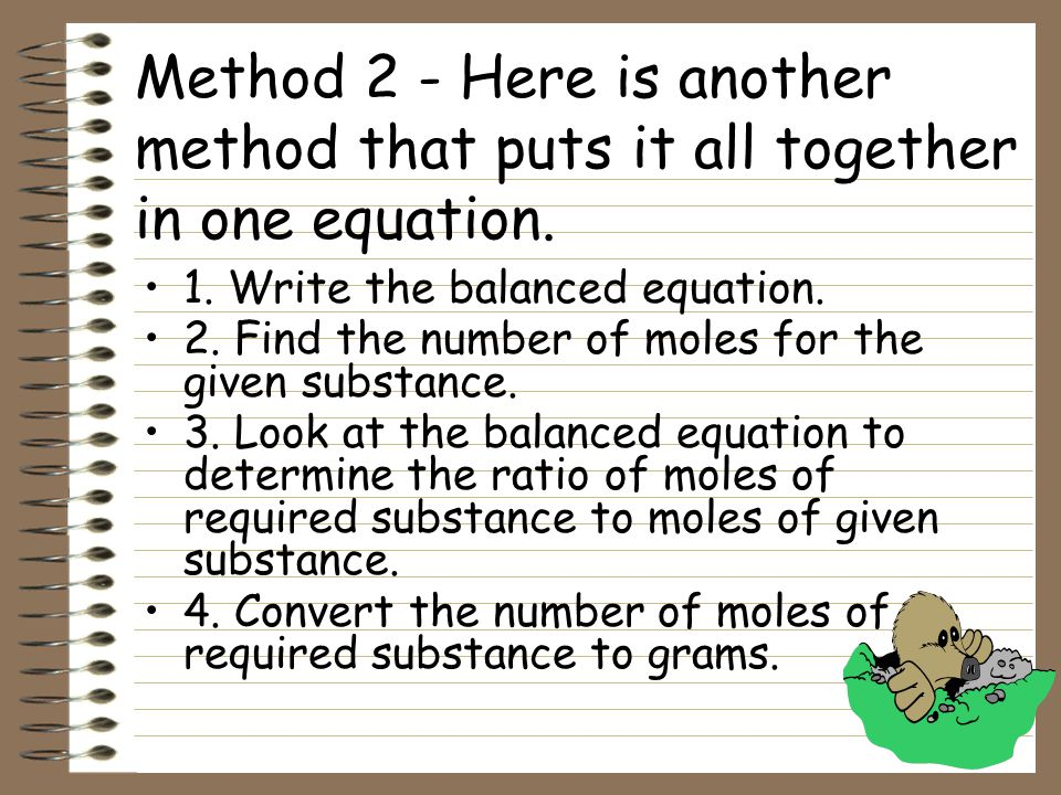 Method 2 - Here is another method that puts it all together in one equation.