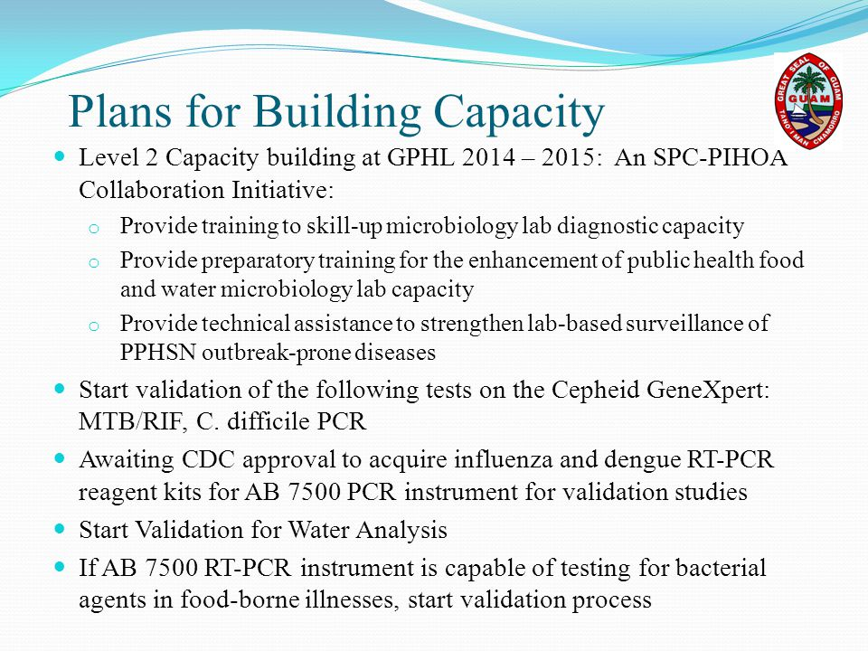 Plans for Building Capacity