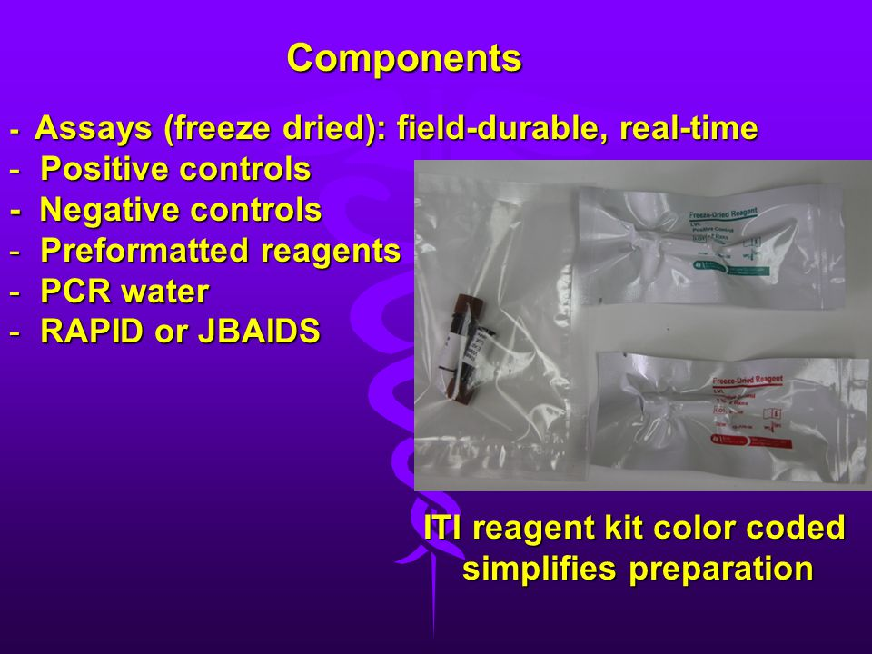 ITI reagent kit color coded simplifies preparation