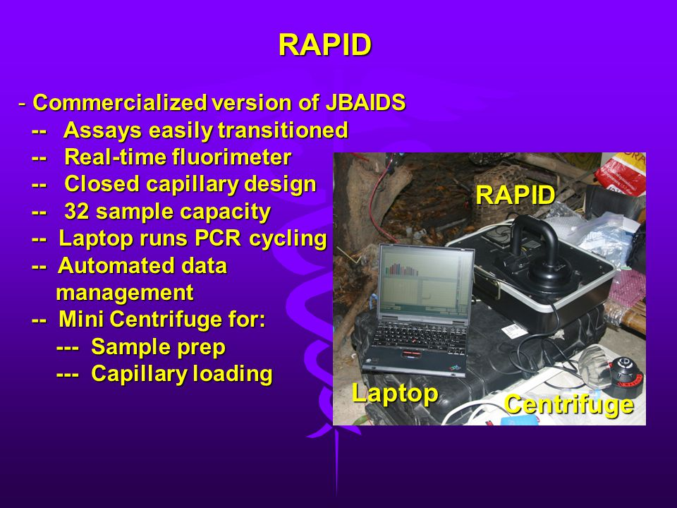 RAPID RAPID Laptop Centrifuge Commercialized version of JBAIDS
