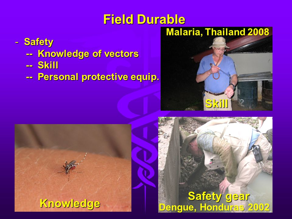Field Durable Skill Safety gear Knowledge Malaria, Thailand 2008