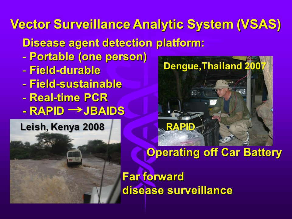 Vector Surveillance Analytic System (VSAS)