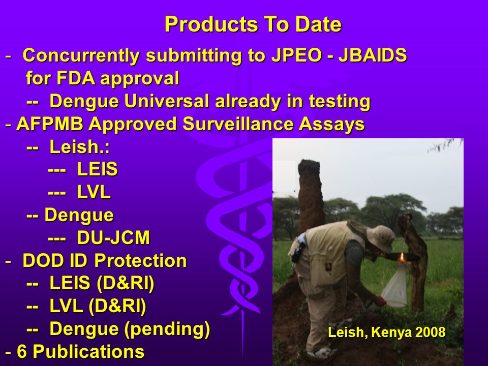 Products To Date Concurrently submitting to JPEO - JBAIDS