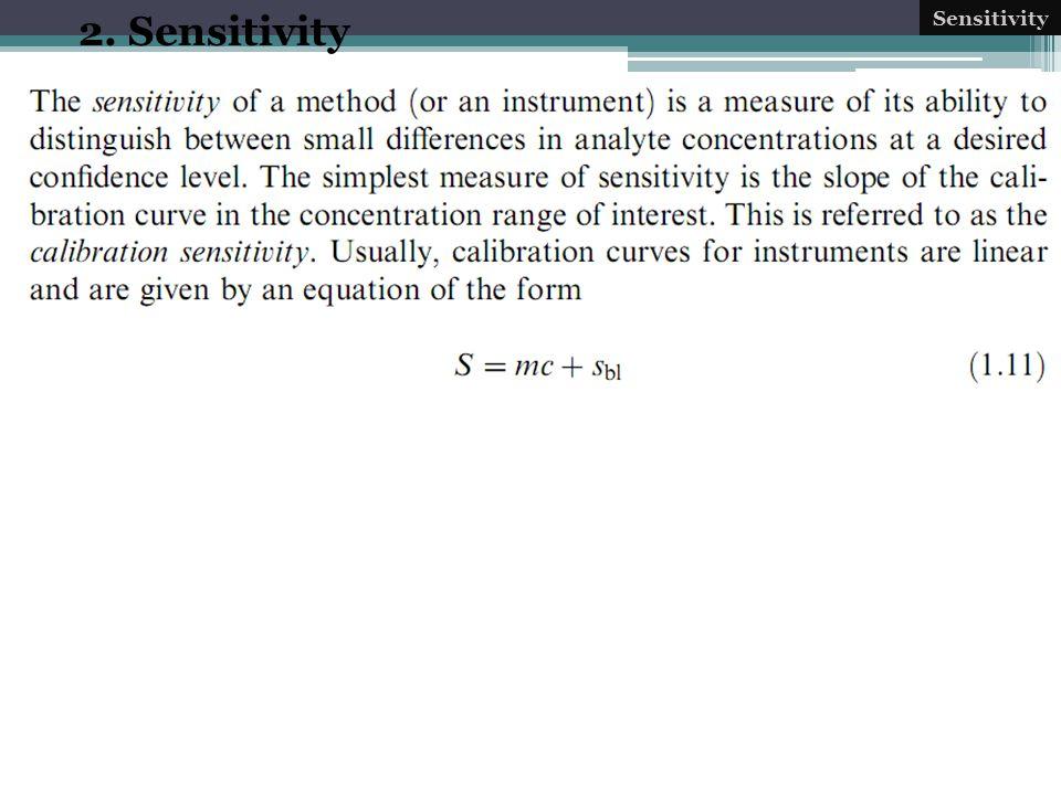 2. Sensitivity Sensitivity