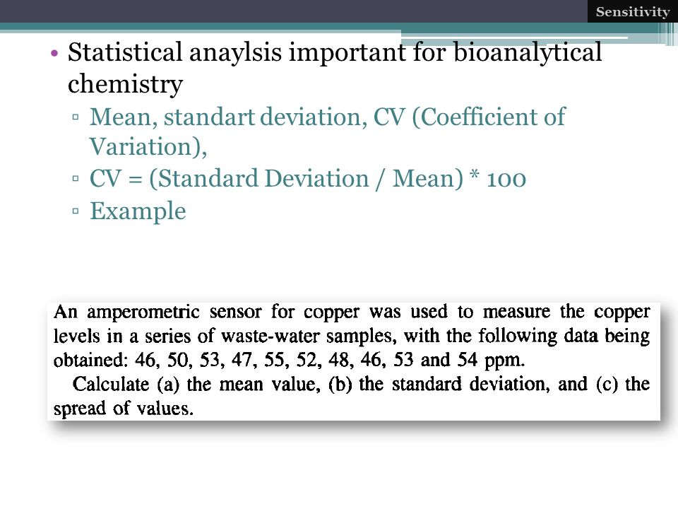 Statistical anaylsis important for bioanalytical chemistry