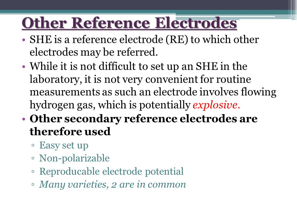 Other Reference Electrodes