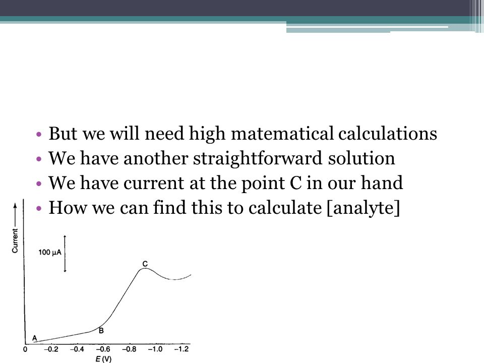 But we will need high matematical calculations