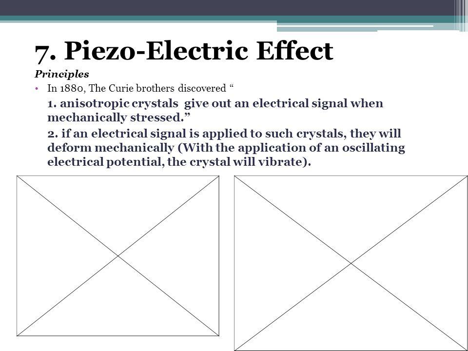 7. Piezo-Electric Effect