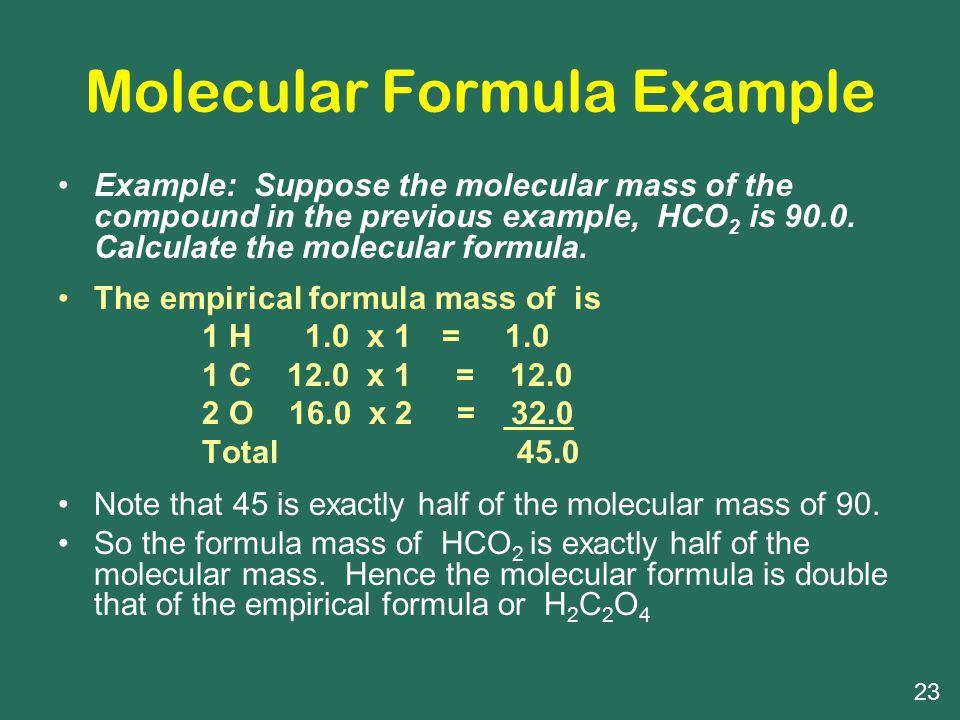 Molecular Formula Example