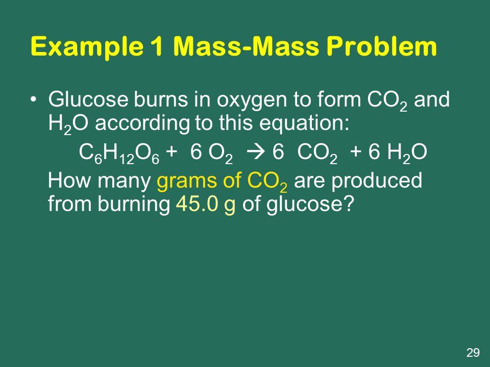 Example 1 Mass-Mass Problem