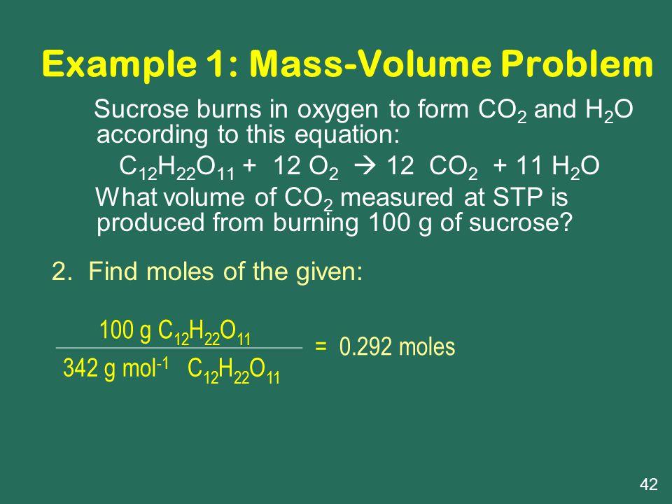 Example 1: Mass-Volume Problem