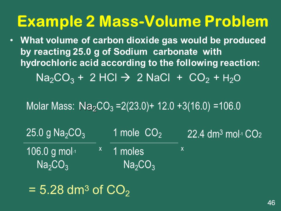 Example 2 Mass-Volume Problem