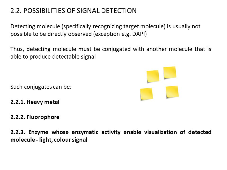 2.2. POSSIBILITIES OF SIGNAL DETECTION