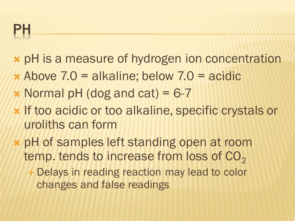 pH pH is a measure of hydrogen ion concentration