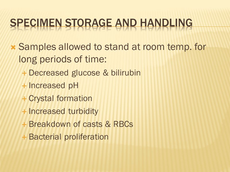 Specimen storage and handling