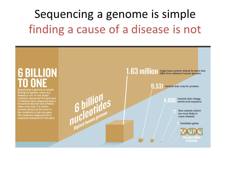 Sequencing a genome is simple finding a cause of a disease is not