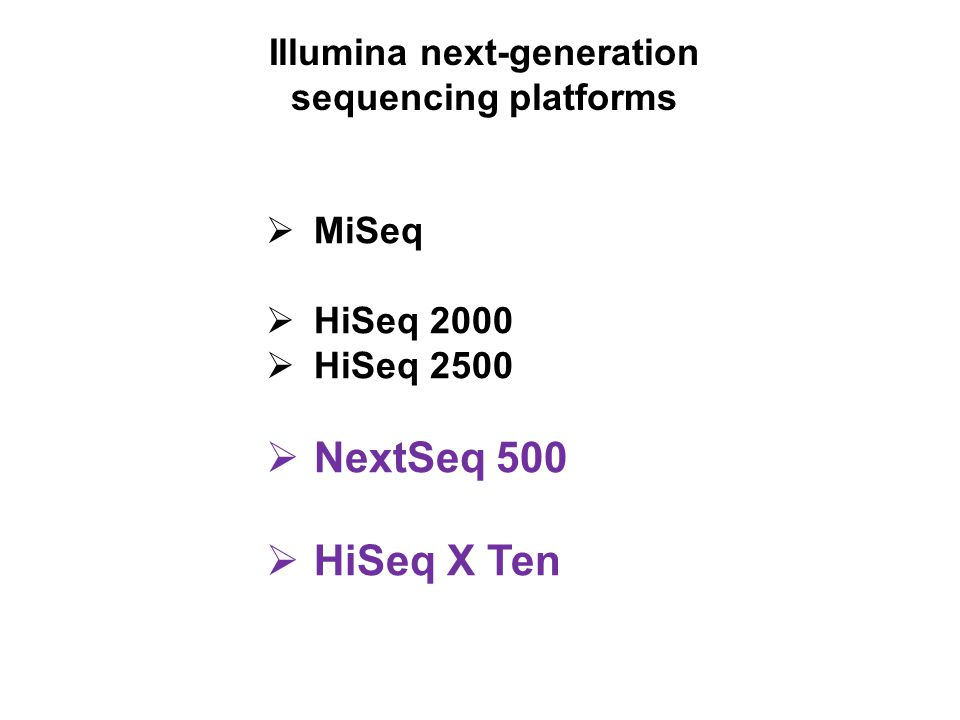 Illumina next-generation sequencing platforms